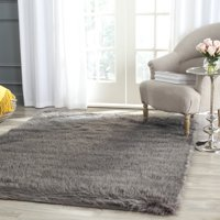 Safavieh Faux Sheep Skin Vesna Solid Plush Area Rug