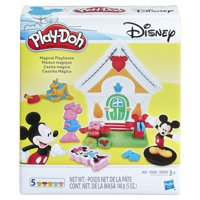 Play-Doh Disney Mickey Mouse Magical Playhouse Set with 5 Cans of Dough