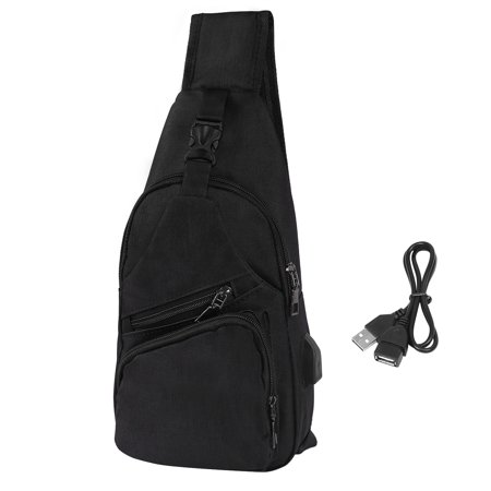 HDE Mens Sling One Arm Bag Anti-Theft Backpack Crossbody Commute Travel Work Bag ()