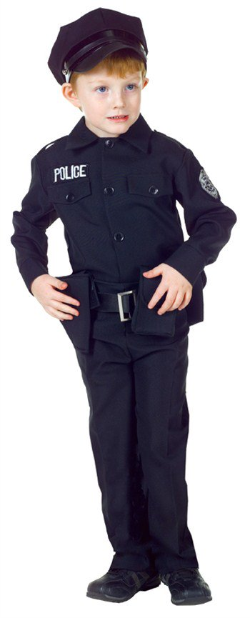 Police Man Set Child Halloween Costume - Chinese Male Costume