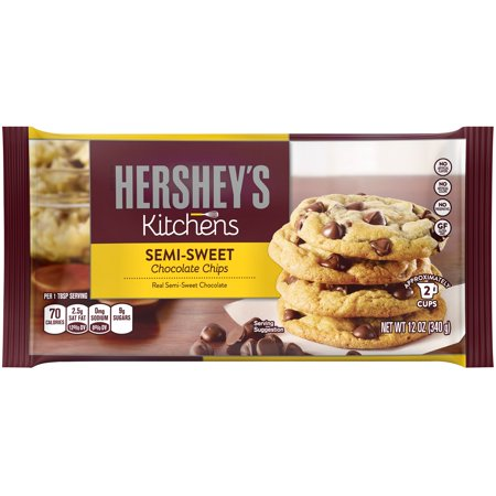 (2 Pack) Hershey's, Semi-Sweet Chocolate Baking Chips, 12 oz (Semi Sweet Baking Bar)