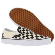 8543f15dcb Vans Classic Slip-On (Black   White Checkerboard White) Men s Skate Shoes