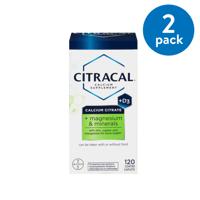 (2 Pack) Citracal Plus Magnesium & D3 Calcium Citrate Caplets, 500mg, 120 Ct