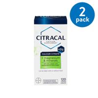 (2 Pack) Citracal Plus Magnesium & D3 Calcium Citrate Caplets, 120 Count