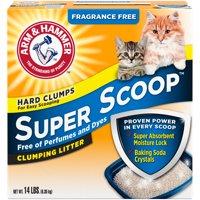 Arm & Hammer Super Scoop Clumping Cat Litter, Fragrance Free, 14-lb