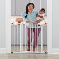 Regalo Extra Tall Easy Step Walk Thru Baby Gate, White