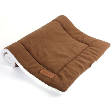 Rubber Kennel Mats - Dog Cat Pet Beds Washable Soft Comfortable Warm Bed Mat Padding House Sleep Crate Fleece Kennel Cushion Pet Blanket Bed,L Size