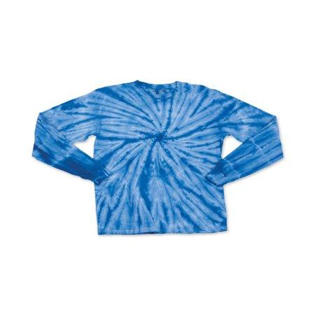 Youth Cyclone Tie Dye Long Sleeve T-Shirt - Black - S