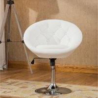 Roundhill Noas Contemporary Round Tufted Back Tilt Swiviel Accent Chair, Multiple Colors Available