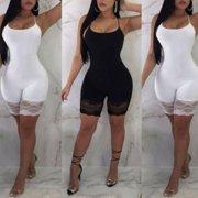 82058575bbc9 NEW Women Casual Sleeveless Bodycon Romper Jumpsuit Club Bodysuit Short  Pants