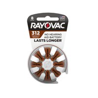 Rayovac Size 312 Hearing Aid Batteries, 8-Pack 312-8