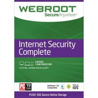 Webroot Internet Security Complete + Antivirus | 5 of Devices | 1 Year | PC/Mac Disc