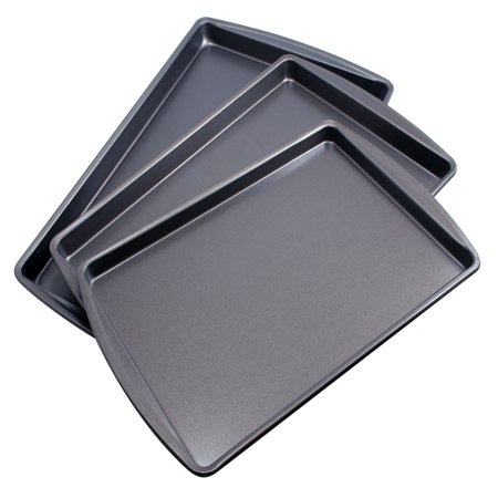Mainstays Cookie Sheet Set, 3 Pieces