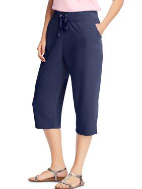 Women's plus-size french terry pocket capri