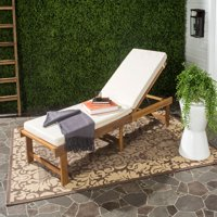 Safavieh Inglewood Outdoor Modern Chaise Lounge Chair with Cushion