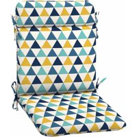 Mainstays Outdoor Patio Mid Back Chair Cushion, Multiple Patterns