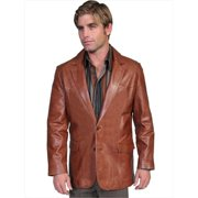 885ff177 scully 501-189-36 mens leather wear western blazer, antique brown, size
