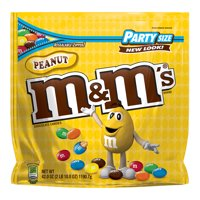 M&M's Peanut Milk Chocolate Candy Party Size, 42 Oz.