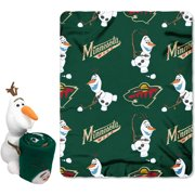 Official NHL and Disney Cobrand Minnesota Wild Olaf Hugger Character Shaped  Pillow and 40