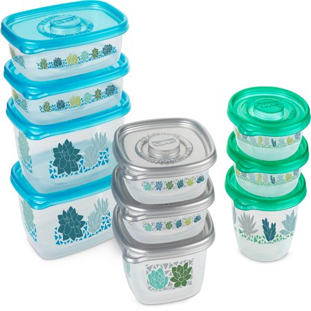 Glad Food Storage Containers - MatchWare Variety Pack 10 Containers 20 Piece