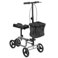 Dual Braking knee walker scooter Medical Leg Supporter, Black