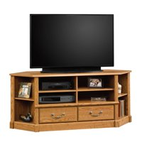 "Sauder Orchard Hills Corner Entertainment Credenza for TVs up to 50"", Carolina Oak Finish"