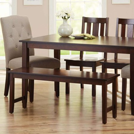 Better Homes & Gardens Bankston Dining Bench, Mocha ()