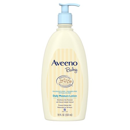 - Aveeno Baby Daily Moisture Lotion with Natural Colloidal Oatmeal, 18 fl. oz