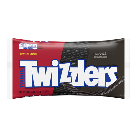 Twizzlers, Black Twists Chewy Candy, 16 Oz - Licorice Twizzlers