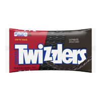 (3 Pack) Twizzlers, Black Twists Licorice Chewy Candy, 16 Oz