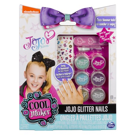 JoJo Siwa Glitter Nails - Glitter Manicure Kit with Custom Decals - Toys For 12 Year Old Girls