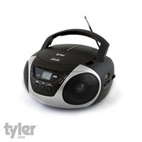 Tyler TAU101-SL Portable Sport Stereo CD Player with AM/FM Radio, Aux & Headphone Jack Line-In (Silver)