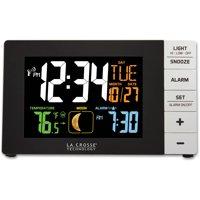 La Crosse Technology Color Alarm Clock with Temperature & USB Port