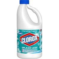 Clorox Splash-Less Liquid Bleach, Clean Linen Scent, 55 oz. Bottle