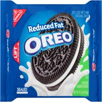 (3 Pack) Nabisco Oreo Reduced Fat Chocolate Sandwich Cookies, 14.3 oz