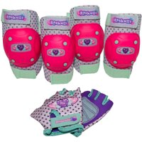 Raskullz Hearty Gem Elbow and Knee Pad Set, with Gloves Child