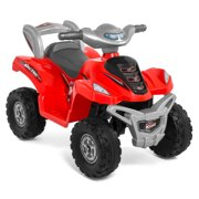 Best Choice Products 6V Kids Battery Powered Electric 4-Wheeler Quad ATV Bicycle Toddler Ride-On Toy w/ Charger, Treaded Tires - Red