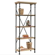 Better Homes & Gardens River Crest 5-Shelf Bookcase, Rustic Oak Finish