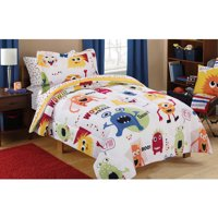 Mainstays Kids Monster Mix Bed in a Bag Coordinating Bedding Set