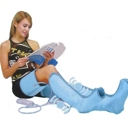 Air Compression Leg Massager Wraps For Foot Ankles Calf Massage Machine With Remote (Homedics Deep Compression Foot And Calf Massager)