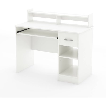 South Shore Traditional Hutch - South Shore Smart Basics Small Desk, Multiple Finishes