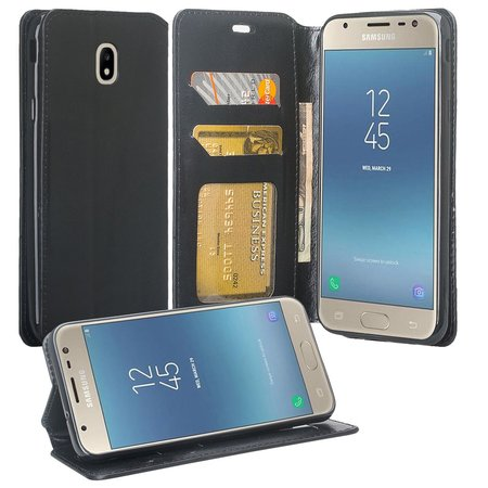 For Tracfone/StraightTalk Samsung Galaxy J3 Orbit (S367VL) Case Leather Wallet Case [ID&Credit Card Slots] Flip Phone Cases - -