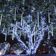 Meteor Shower Rain Lights, Outdoor Drop Icicle Snow Fall String LED Waterproof Christmas Lights with