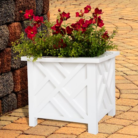Box Planter - White by Pure - Garden Planters Containers