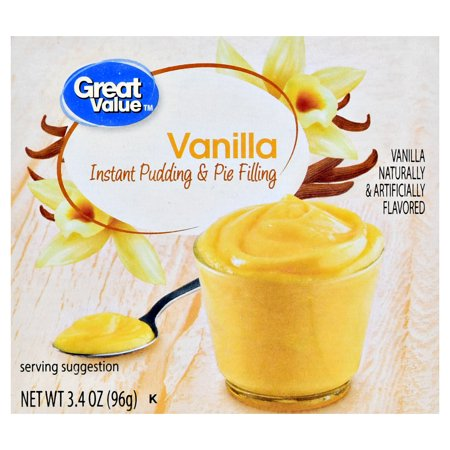(5 Pack) Great Value Instant Pudding & Pie Filling, Vanilla, 3.4 oz