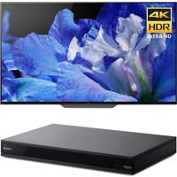 "Sony Bravia XBR55A8F 55"" OLED 4K HDR10 HLG and Dolby Vision TV 3840x2160 & Sony UBPX800 4K HDR UHD Blu-Ray Player with Dolby Atmos 3D"