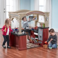 Step2 Grand Walk-In Kitchen Play Kitchen with 103-piece Play Food Accessory Set