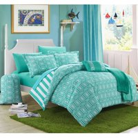 Chic Home 10-Piece Nantes Geometric and Striped Reversible Comforter Set