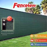 Fence4ever Dark Green 5'x50' Fence Privacy Screen Windscreen Shade Cover Mesh Fabric Tarp