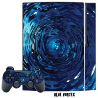 Mightyskins Protective Skin Decal Cover Sticker for Playstation 3 Console + two PS3 Controllers - Blue Vortex